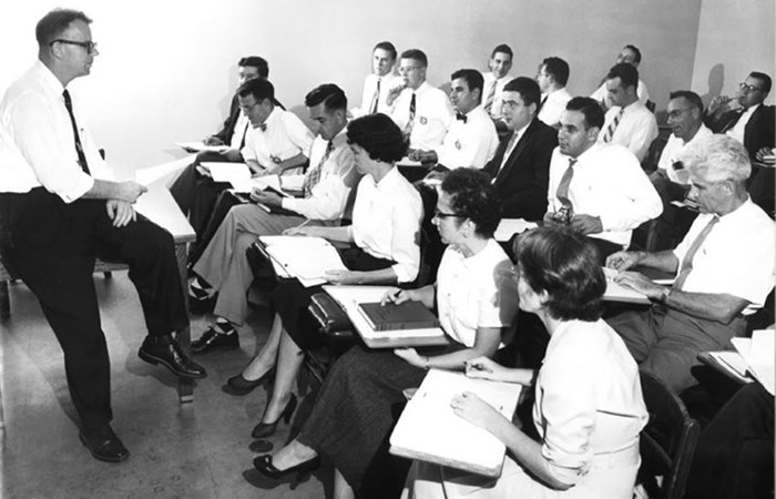 Students in class circa 1955