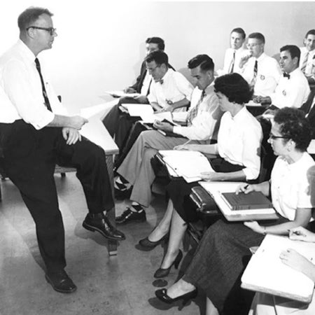 Students in a lecture in 1955