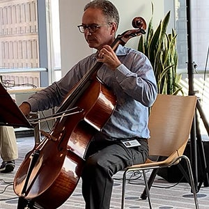 randy playing cello